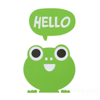 Buytra Wall Sticker Removable Hello Cute Frog