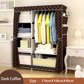 BYL curtain wardrobe closet durable storage cabinets popheko