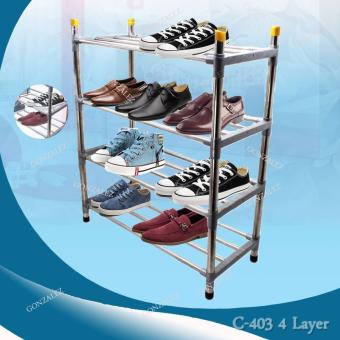 C-403 4 Layer Multifunctional Stainless Steel Shoe Rack