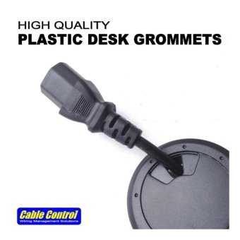 Cable Control Plastic Desk Grommets 53mm, set of 12, Office Deskgrommet, Computer Table Grommet