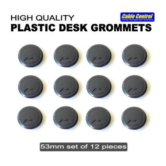 Cable Control Plastic Desk Grommets 53mm, set of 12, Office Deskgrommet, Computer Table Grommet - 2