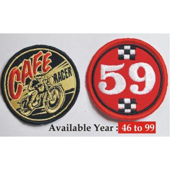 Cafe Racer Embroidered Cloth Patch & Dated Race Patch (Get 2)-Specify Year Choice