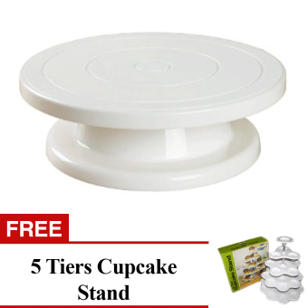 Cake Decorating Turn Table Free 5 Tiers Cupcake Stand