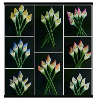 Callalily Citronella Candles Set of 5 (Multicolor)