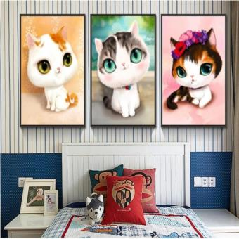 Candy Online 3 In 1 Cute Cat Pattern DIY 5D Diamond Painting CrossStitch Full Drill Rhinestone Painting Decor (G1+G2+G3) Price Philippines