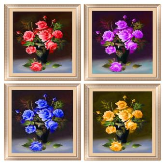 Candy Online 4-Color Roses DIY 5D Diamond Painting Cross StitchFull Drill Rhinestone Painting Decor (K035+K036+K037+K038)