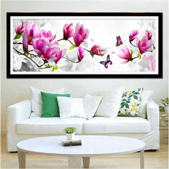 Candy Online Butterfly Magnolia Flower DIY 5D Diamond PaintingCross Stitch Full Drill Rhinestone Painting Decor #114-3