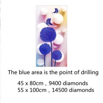 Candy Online Dandelion DIY 5D Diamond Painting Cross Stitch FullDrill Rhinestone Painting Decor #8936 - 4