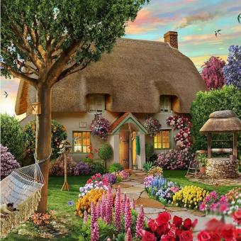 Candy Online European-style Fairy Tale House DIY 5D DiamondPainting Cross Stitch Full Drill Rhinestone Painting Decor #9471 Price Philippines