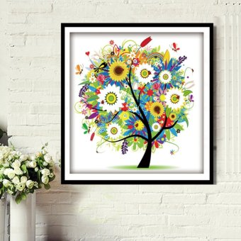 Candy Online Summer Fortune Tree DIY 5D Diamond Painting CrossStitch Full Drill Rhinestone Painting Decor #8749