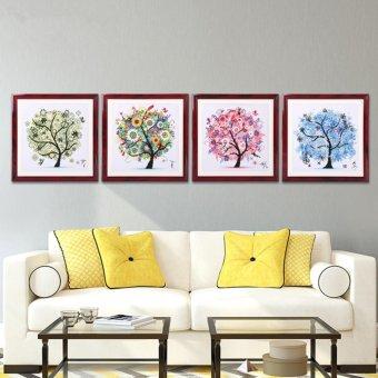 Candy Online Summer Fortune Tree DIY 5D Diamond Painting CrossStitch Full Drill Rhinestone Painting Decor #8749 - 3