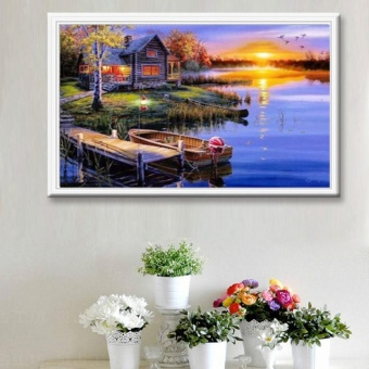 Candy Online Sunset Scenery Diy 5D Diamond Painting Cross StitchFull Drill Rhinestone Painting Decor K-042