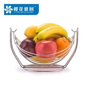 Candy swing stainless steel color plate fruit basket