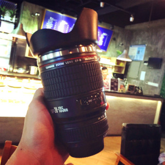 Canon cool insulated stainless steel camera couple's cup for cup