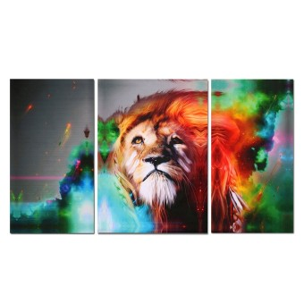 Canvas Prints Home Decor Wall Art Painting Picture-Big Colorful Lion Unframed
