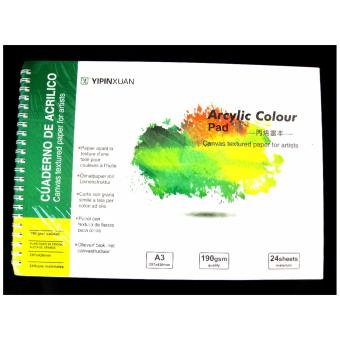 Canvas Texture Paper for Artist Acrylic Colour Pad 297x420mm