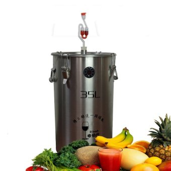 Capacity 20L 304 Stainless Steel Beer Fermenter Brewing Barrel Sliver - intl