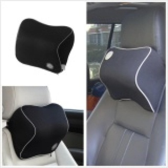 Car Seat Headrest Pad Memory Foam Travel Pillow Head Neck Rest Support Cushion (Intl) - intl