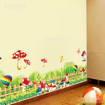 Cartoon bedroom children's room wall stickers wall adhesive paper