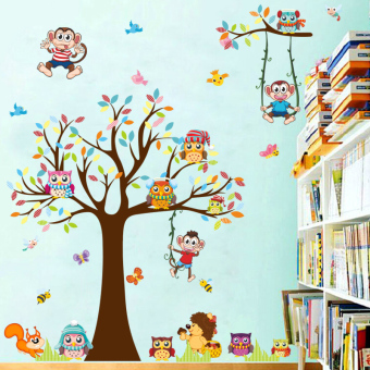 Cartoon bedroom living room Children's room wall adhesive paper wall stickers