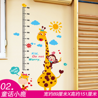 Cartoon bedroom nursery wall paper adhesive paper