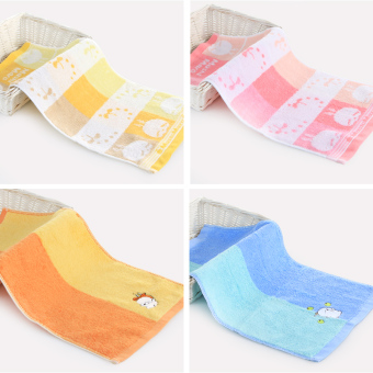 Cartoon cotton gauze Children's Home face towel
