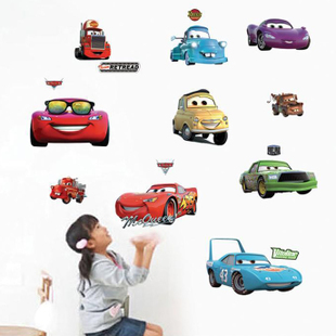 Cartoon multi-kindergarten children's room wall adhesive paper car