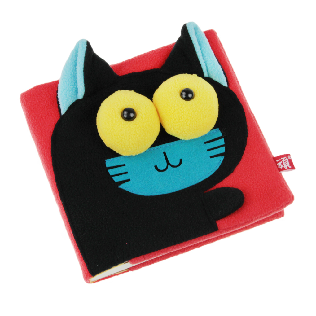Cartoon Plush 3D Cover Plain Sketching Drawing Pads Blank NotebookMini Square Scrapbook Writing .