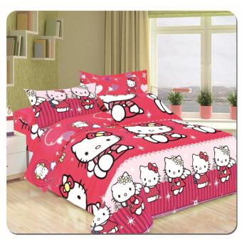 cartoon soft cotton bed sheet set of 3 (fitted sheet and pillowcase) - 3