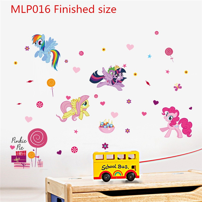 ... Cartoon Wall Sticker My Little Pony Wall Stickers For Kids Rooms Home  Decor Height Measure Chart ...