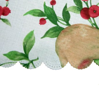 Casabella Pears Oval Tablecloth (White)