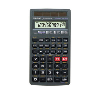 Casio fx-260 SOLAR Scientific Calculator, Black (Intl)