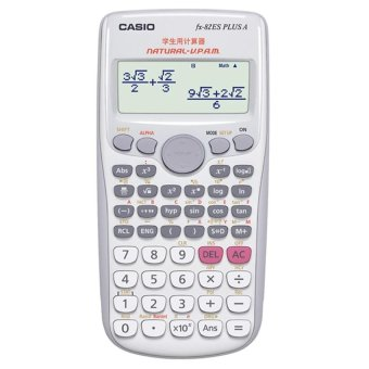 Casio FX-82ES PLUS A Scientific Digital Calculator Dual PowerStudent Computer Science Calculator Calculadora Cientifica(White) -intl