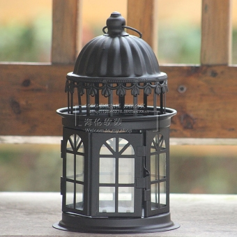 Castle simple European Wrought Iron Lantern