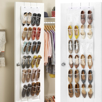 CatWalk Crystal Collection Over-The-Door Shoe Organizer (White) - intl