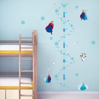 Catwalk Frozen Elsa Anna Height Chart Removable Wall Stickers DecalKids Decor Nursery - intl Price Philippines