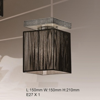 CEILING LAMP (BLACK) L:150MM W:150MM H:210MM