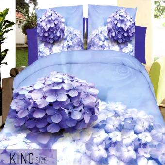 Celebrity Collection King Size Lavender 3D Bedding Set of 3