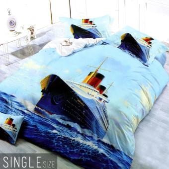 Celebrity Collection Single Size Cruise Ship 3D Bedding Set of 2