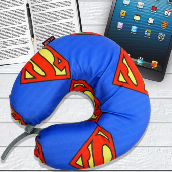 Celebrity Memory Foam Travel Neck Pillow U Shaped Cushion SupermanDesign