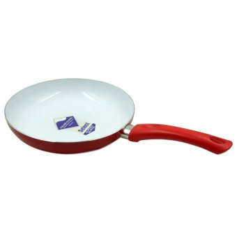 Ceramic Coated non-stick 24cm Pan - Red