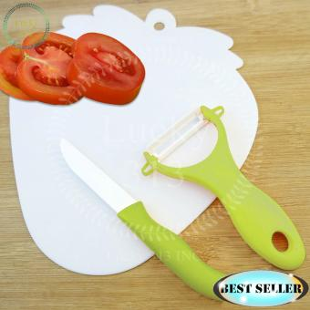 Ceramic Knives with Peeler (Green)