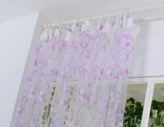 cheap luxury voile net curtains slot top plain floral for door screen windows intl
