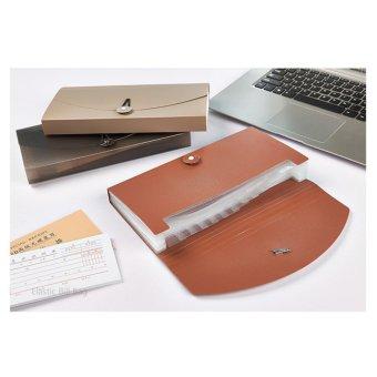 Check Ticket Size Elastic Strap Expandable Bills Card Holder FileStorage Folder Plastic Business Document Organizer Wallet Case 13Pockets - intl - 4