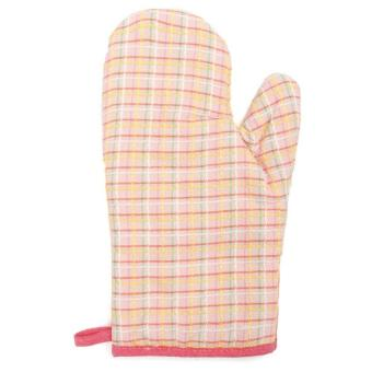 Checkered Oven Heat Proof Resistant Protector Kitchen Cooking PotHolder Glove