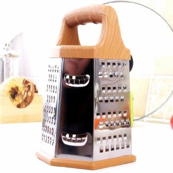 Cheese Grater Food Slicer And Veggie Zester 6 Sided Stainless SteelMulti-Purpos - intl Price Philippines