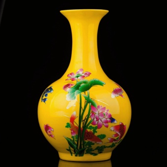 China Jingdezhen Porcelain Handwork Painted Lotus Unique Big VaseDecor - intl Price Philippines