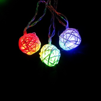 CHINCOLOR RGB Warm White Led string light 2M 20LEDs powered by AAbattery Rattan Ball Holiday for Christmas Wedding Party Curtain XR- intl - 5