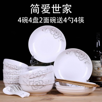 Chinese home care side Round Plates dishes
