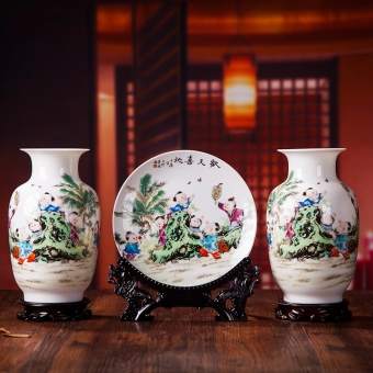Chinese home living room flower arrangement decoration vase